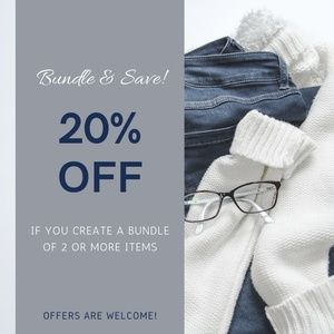 Bundle and SAVE! 🛒 Offers are always welcome!